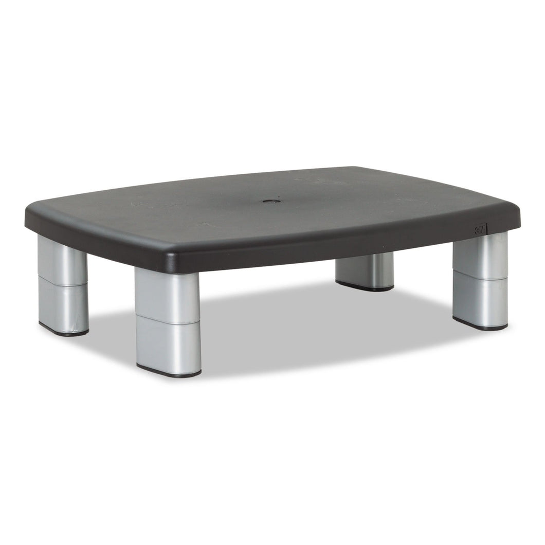 3M Adjustable Height Monitor Stand, 15 x 12 x 2.63 to 5.88, Black/Silver