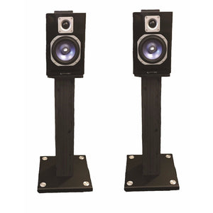 STUDIO MONITOR SPEAKER STANDS PAIR WITH SPEAKERS GREAT FOR HOME SYSTEM KARAOKE
