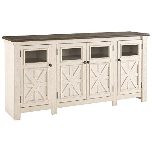 Ashley Furniture Signature Design - Bolanburg TV Stand - Farmhouse - Two-Tone White