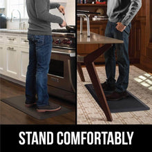 Load image into Gallery viewer, The best kangaroo original standing mat kitchen rug anti fatigue comfort flooring phthalate free commercial grade pads waterproof ergonomic floor pad for office stand up desk 32x20 brown