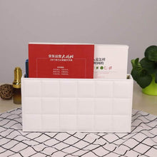 Load image into Gallery viewer, Try ladder multifunctional tissue box cover pu leather pen pencil remote control holder office desk organizer white soft sheep
