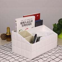 Load image into Gallery viewer, Amazon ladder multifunctional tissue box cover pu leather pen pencil remote control holder office desk organizer white soft sheep