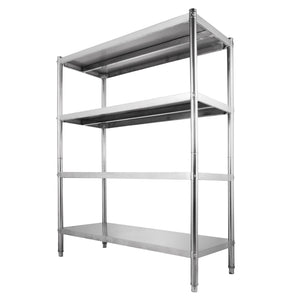 Budget friendly happybuy stainless steel shelving units heavy duty 4 tier shelving units and storage shelf unit for kitchen commercial office garage storage 4 tier 400lb per shelf