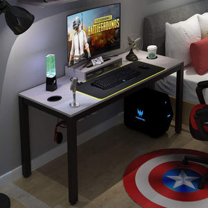 All-in-one Gaming Desk with RGB LED Soft Gaming Mouse Pad 60""