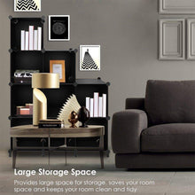 Load image into Gallery viewer, Try tomcare cube storage 9 cube closet organizer shelves plastic storage cube organizer diy closet organizer storage cabinet modular book shelf shelving for bedroom living room office black