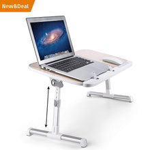 Load image into Gallery viewer, Save on laptop lap desk foldable laptop table stand height adjustable laptop desk for bed and sofa portable lap desk bed tray table office standing desk riser computer desk drafting table