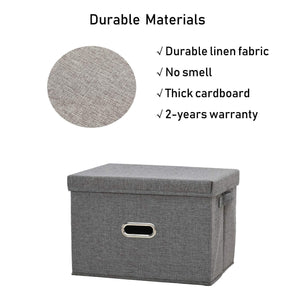 Shop here polecasa storage bins with lid 2 pack removable lid collapsible stackable linen fabric storage cubes boxes containers organizer basket for home office bedroom closet and shelveslarge 38l