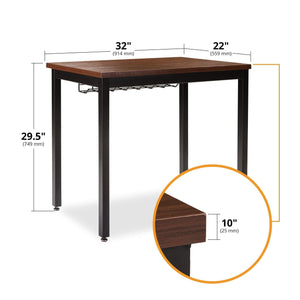 Discover small computer desk for home office 36 length table w cable organizer sturdy and heavy duty writing desk for small spaces and students laptop use damage free promise teak