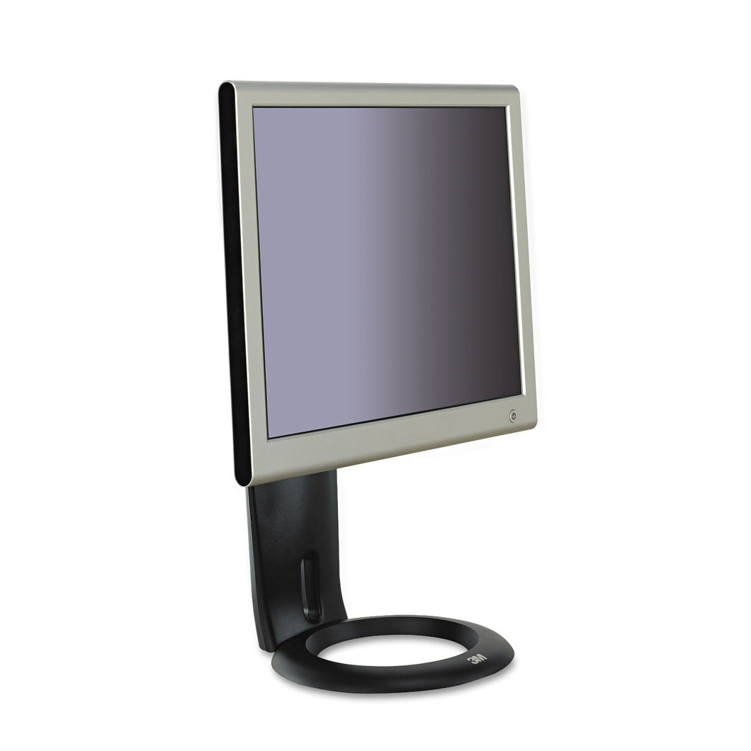 3M Easy-Adjust LCD Monitor Stand, 8 1/2 x 5 1/2 x 8 1/2 to 13 1/2, Black