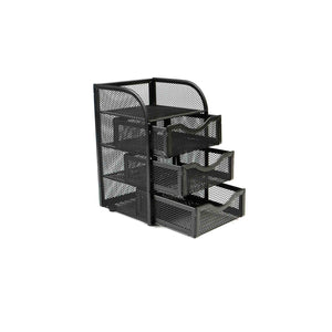Order now mind reader mini desk supplies office supplies organizer 3 drawers 1 top shelf black