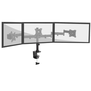 Triple Monitor Stand for 13 to 27 Inch Screens, Full Motion Desk Mount