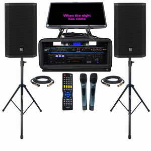 EV ZLX-12P | PROFESSIONAL KARAOKE SYSTEM | KARAOKE PLAYER | KARAOKE MIXER | KARAOKE WIRELESS MICS | SPEAKER STANDS | 1000 FREE KARAOKE SONGS