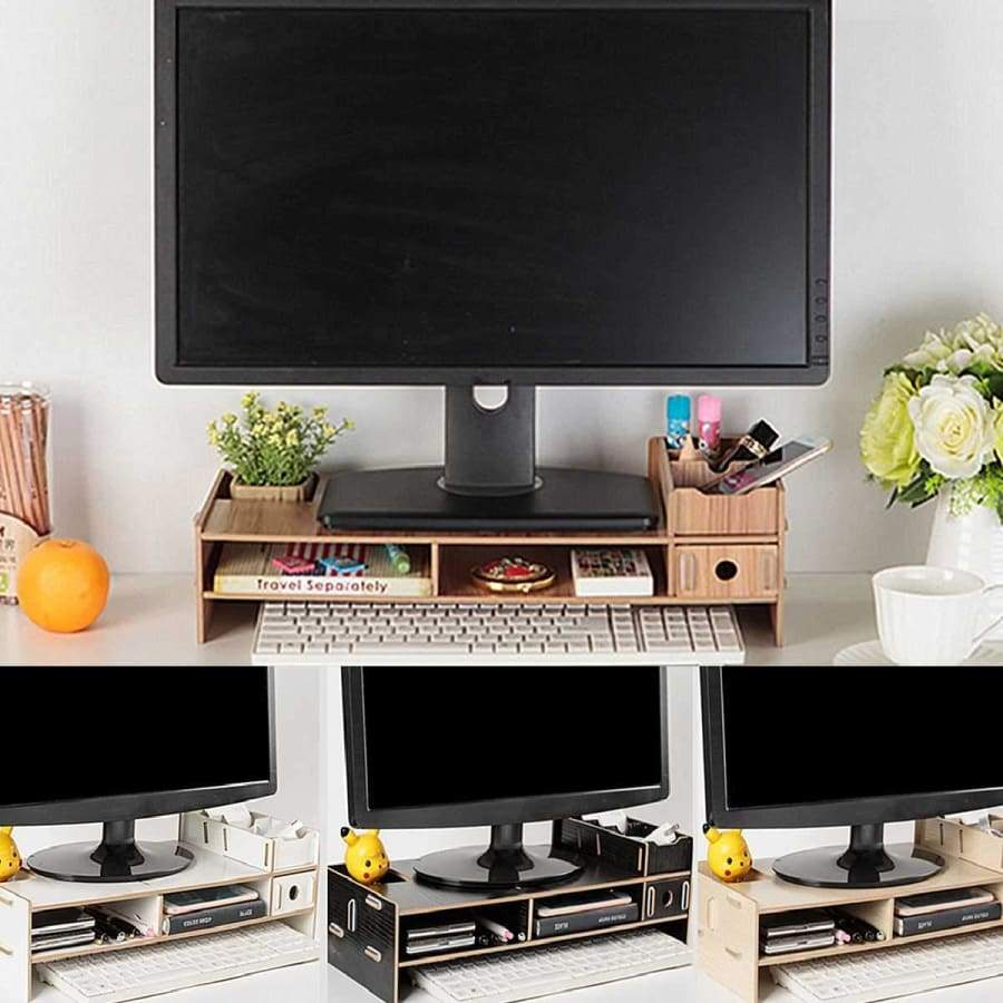 Desktop Multi-function Raised Monitor Stand