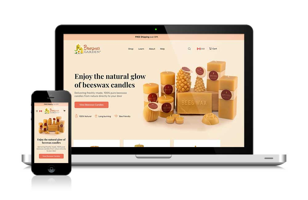 new ecommerce website for beeswaxgarden