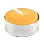 Simply elegant natural colored tealight in aluminium cup