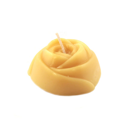 beautiful natural color rose style bees wax candle