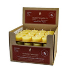 Bulk box of 80 natural color tealight candle refills