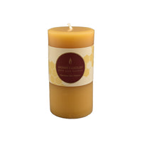 "Small Round Pillar Beeswax Candle 3""x2"""