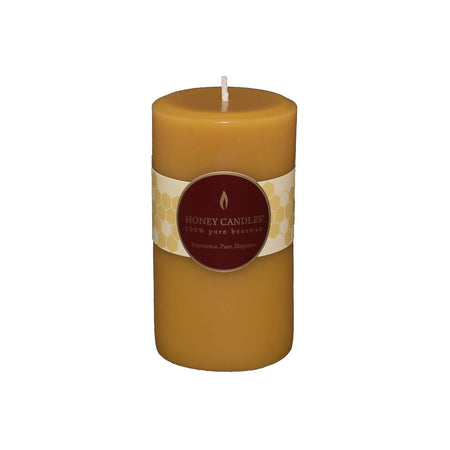 5 inch beeswax round pillar candle