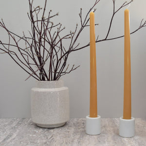 Golden bee wax taper candle made from paraffin free products