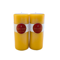 7 inch tall round beeswax pillar candles