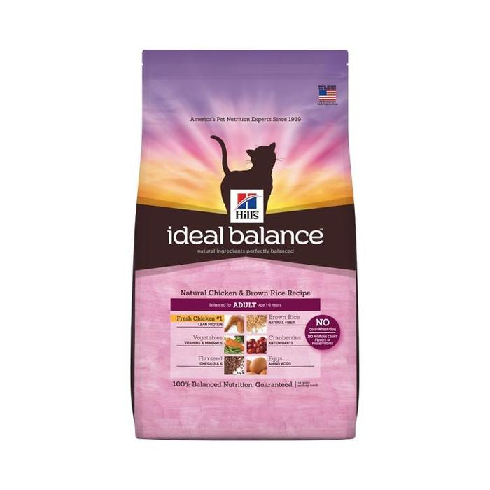 Hill's Ideal Balance Natural Chicken & Brown Rice Recipe Dry Cat Food, 3.5 Pounds