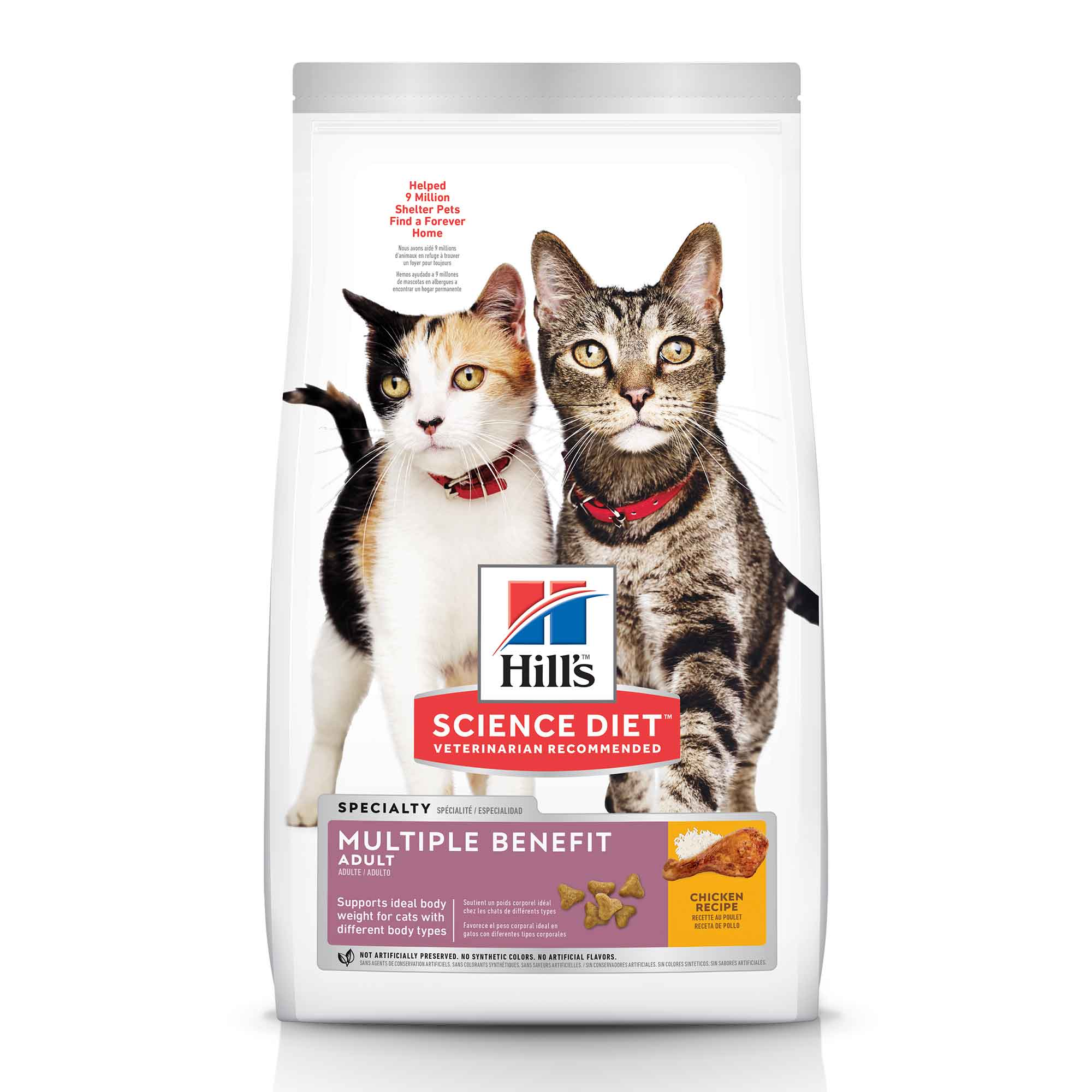 Hill's Science Diet Adult Multiple Benefit Cat Food, 15.5 pound