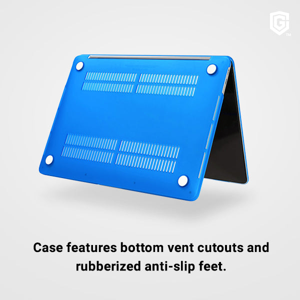 Case features bottom vent cutouts andrubberized anti-slip feet.