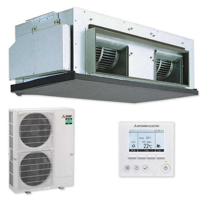 Mitsubishi Electric Ceiling Concealed 3 Phase 14KW 2 Piece Ducted Reverse Cycle PEAM140HAAYKIT Air Conditioner Standard