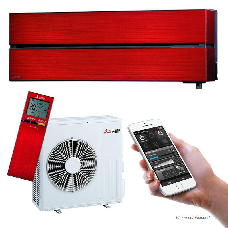 Mitsubishi Electric LN-Series 3.5kW Wall Split System MSZLN35VGRKIT Red Air Conditioner
