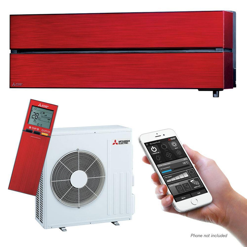 Mitsubishi Electric LN-Series 6.1kW Wall Split System MSZLN60VGRKIT Red Air Conditioner