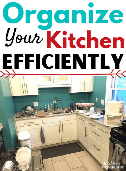 These are the best organization tips for the kitchen I've collected over the years to reorganize a kitchen efficiently