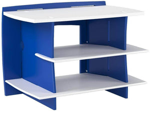 Organize with legare furniture kids gaming and tv media stand standard storage unit for bedroom basement and playroom blue and white
