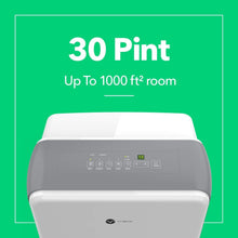Load image into Gallery viewer, New vremi 30 pint energy star dehumidifier for medium to large spaces and basements quietly removes moisture to prevent mold and mildew white