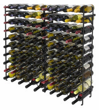 Load image into Gallery viewer, Exclusive sorbus display rack large capacity wobble free shelves storage stand for bar basement wine cellar kitchen dining room etc black height 40 100 bottle