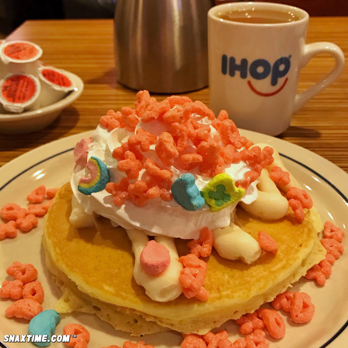 IHOP Cereal Pancakes: FRUITY LUCKY CHARMS, CINNAMON TOAST CRUNCH & CAP'N CRUNCH BREAKFAST FUN!