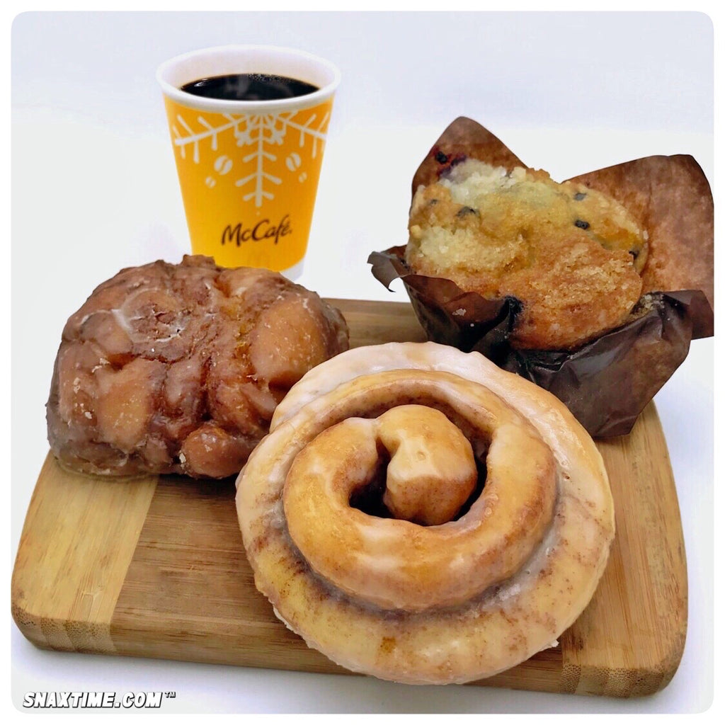 McDonald's Cinnamon Roll, Apple Fritter and Blueberry Muffin: BAKERY GOLD!