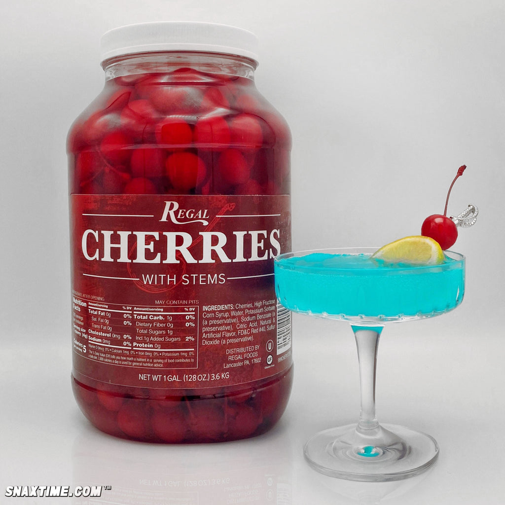 Smurfette Cocktail Recipe: SPARKLY BLUE W/ A CHERRY ON TOP!