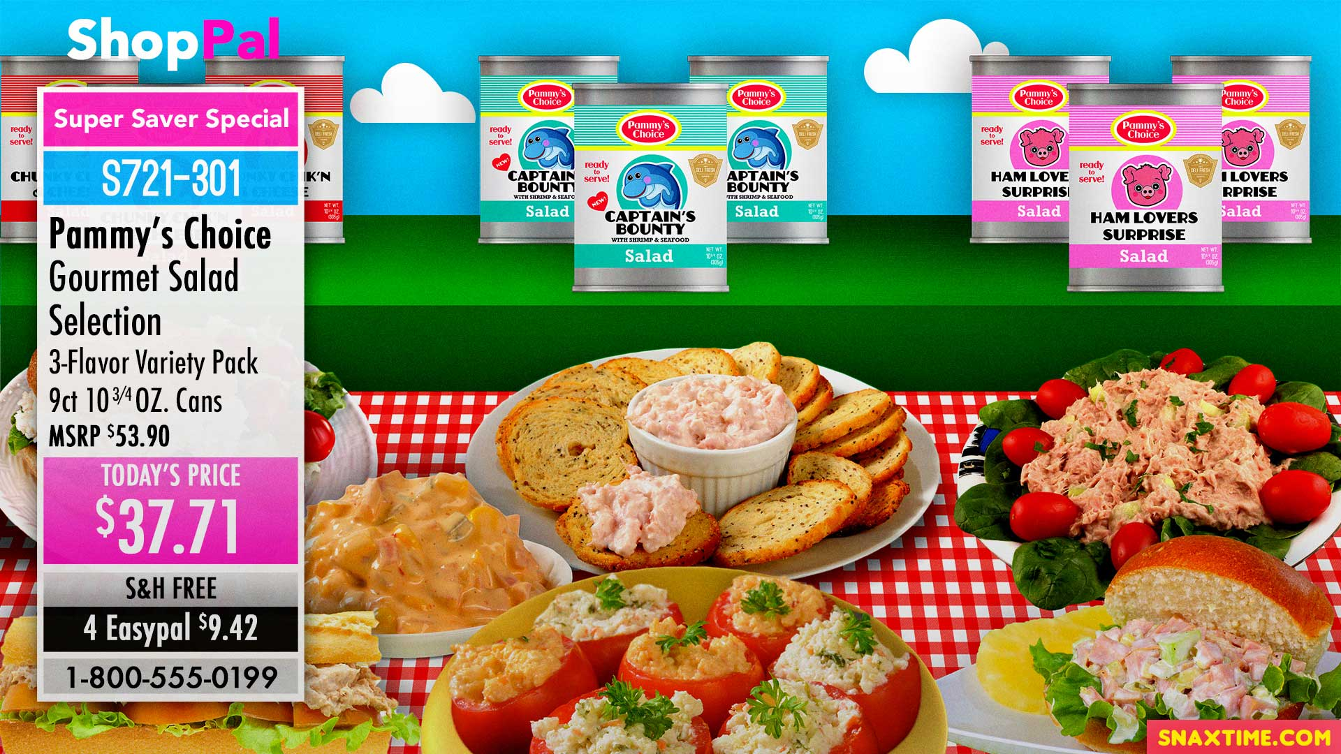 Free Zoom Background - Home Shopping QVC HSN Canned Food Meat Salad