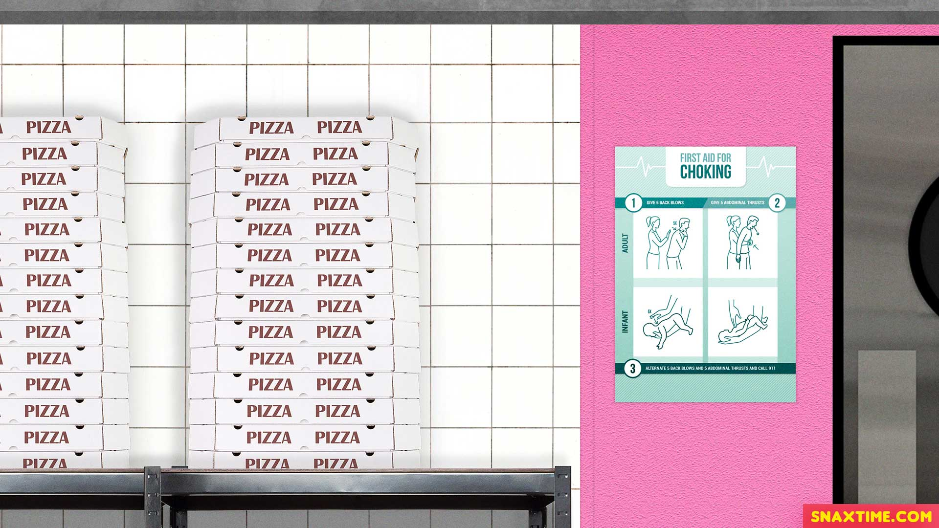 Free Zoom Background - Pizza Restaurant Delivery