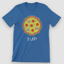 Load image into Gallery viewer, 8-bit Arcade Pizza Graphic T-Shirt - Snaxtime Retro Style Food Apparel