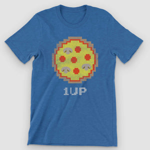 8-bit Arcade Pizza Graphic T-Shirt - Snaxtime Retro Style Food Apparel