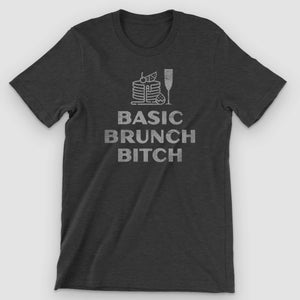 Basic Brunch Bitch Graphic T-Shirt - Snaxtime Retro Style Food Apparel
