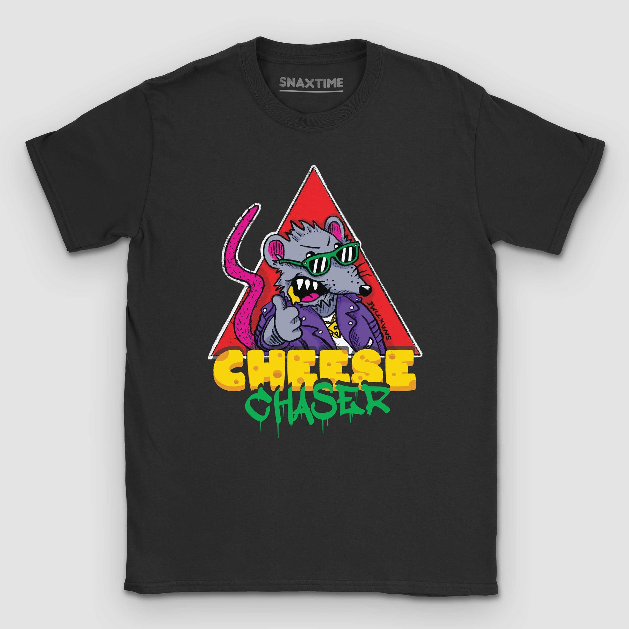 Cheese Chaser Cartoon Graphic T-Shirt