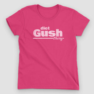 Diet Gush Cherry Soda Women's Graphic T-Shirt - Snaxtime Retro Style Food Apparel