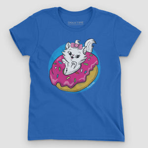 Donut Kitty Women's Graphic T-Shirt - Snaxtime