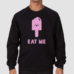 Eat Me Unisex California Fleece Raglan Sweatshirt - Snaxtime Retro Style Food Apparel