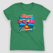 Load image into Gallery viewer, 90s Fast Food Women's Graphic T-Shirt - Snaxtime Retro Style Food Apparel