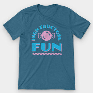 High Fructose Fun Graphic T-Shirt - Snaxtime Retro Style Food Apparel
