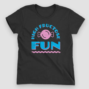 High Fructose Fun Women's Graphic T-Shirt - Snaxtime Retro Style Food Apparel